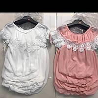 Детские нарядные блузки под резинку для девочек оптом B.B.W