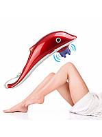 Ручной вибромассажер Dolphin Big (Дельфин большой), 3 насадки, красный