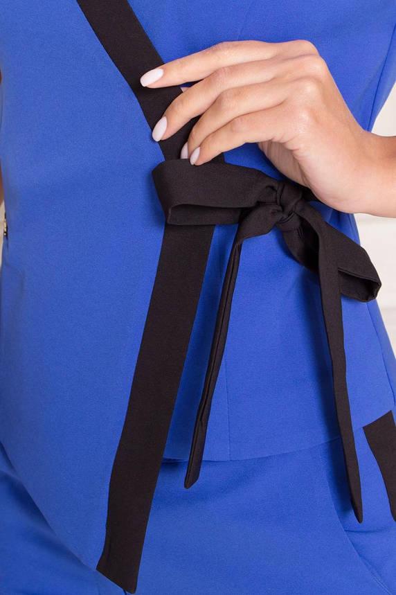 Костюм женский брючный деловой синий, фото 2