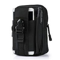 Тактический чехол Military сумка для телефона подсумок на пояс Черный