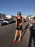 Черная джинсовая юбка на пуговицах спереди, фото 5