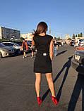 Черная джинсовая юбка на пуговицах спереди, фото 4