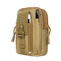 Тактический чехол Military сумка для телефона подсумок на пояс Койот