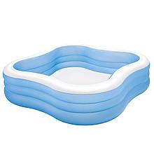 Дитячий надувний басейн «Акварена» Intex 57495 (229*229*56 см)