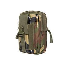 Тактический чехол Military сумка для телефона подсумок на пояс Лес