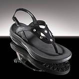 Босоніжки зі стразами Swarovski WalkMaxx чорні, фото 2