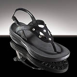 Босоножки со стразами Swarovski WalkMaxx черные, фото 2