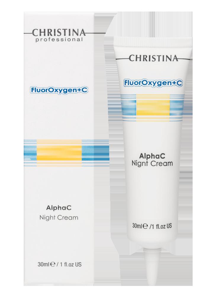 НФлюроксиджен Ночной осветляющий крем FluorOxygen+C Alpha C Night Cream, 30 мл