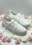 Туфли, криперы с перфорацией, очень мягкие белый, фото 2