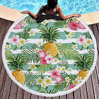 Пляжное полотенце круглое, коврик для йоги