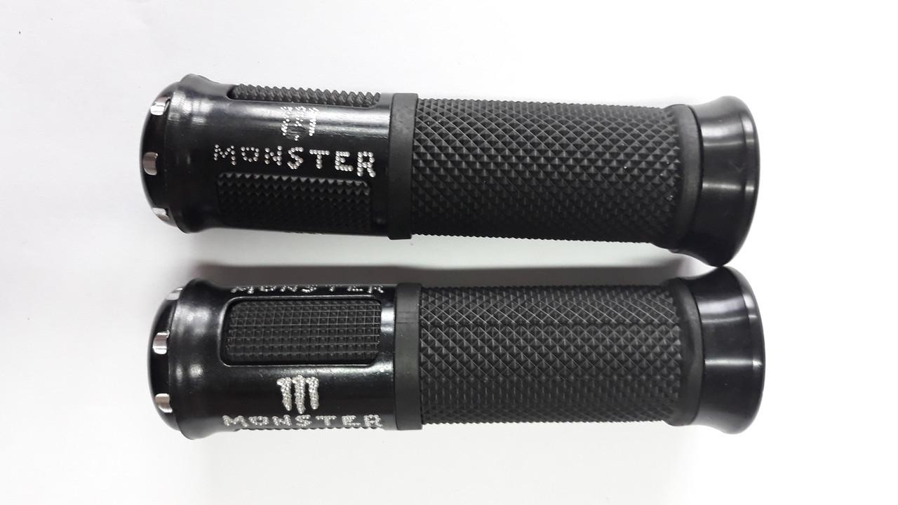 Ручки руля с алюм. отбойником (черные) (mod:monster) GJCT