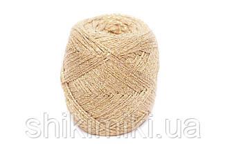 Трикотажный шнур с люрексом Knit & Shine, цвет Светлый капучино