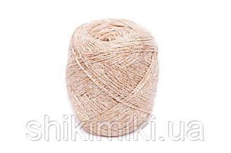 Трикотажный шнур с люрексом Knit & Shine, цвет Сливочный