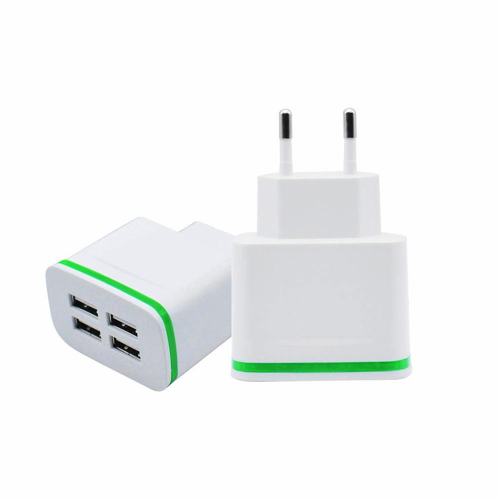 Сетевое зарядное устройство на 4 USB 4A R040 со светодиодной подсветкой
