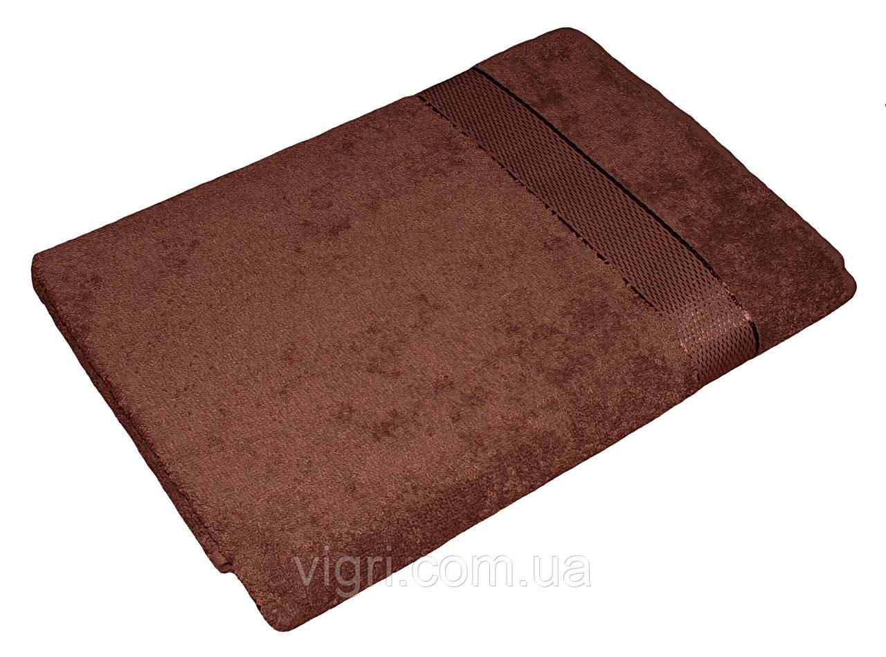 Полотенце махровое Азербайджан, 50х90 см., коричневое