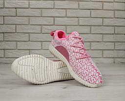 Женские кроссовки Аdidas Yeezy Boost 350 Pink\White, розовые, А-д изи буст . ТОП Реплика ААА класса., фото 2