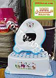 Антиковзка дитяча пластикова накладка (адаптер) на унітаз і сходинка - підставка, фото 3