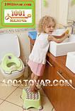 Антиковзка дитяча пластикова накладка (адаптер) на унітаз і сходинка - підставка, фото 7
