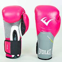 Перчатки боксерские кожаные на липучке 10oz EVERLAST BO-5228-P(10) (реплика)