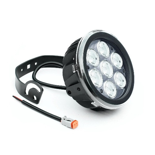 Поисковый прожектор-фара на лодку 4200Лм светодиодный 10х7Вт Lunsun LED670