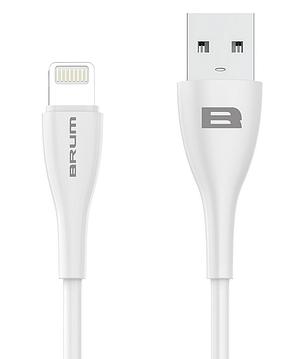 Кабель USB cable BRUM Flexible U004i Lightning iPhone 5/6/7/8/X (2.1A) (1M) белый, фото 2