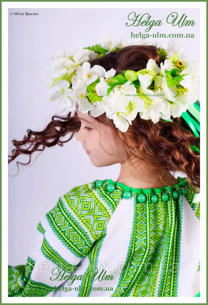 """""""Мавка"""", """"Весна"""" - дитячий карнавальний етнокостюм (білий). Прокат у Львові"""