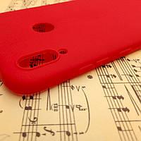 Силиконовый матовый чехол Candy для Huawei Honor 8X Max (Красный)