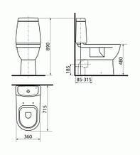 """Унітаз для інвалідів підлоговий """"EU-INVО-MG-02-NР1 Бізнес"""""""