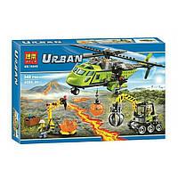 """Конструктор Bela 10640 (Аналог Lego City 60123) """"Грузовой вертолет исследователей вулканов"""" 348 деталей, фото 1"""