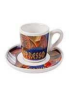 """Кофейный набор """"Эспрессо"""" 75мл Gunthart 0,075л Белый, Коричневый, Синий"""