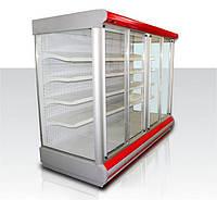 Витрина холодильная пристеная с раздвижными дверями купе Golfstream