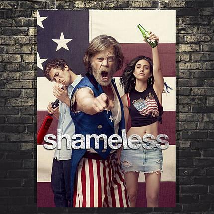 Постер Shameless, Бесстыжие, сериал. Размер 60x42см (A2). Глянцевая бумага, фото 2