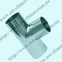 Тройник (Т-деталь) DN 100 AISI304 длинный приварной DIN 11850