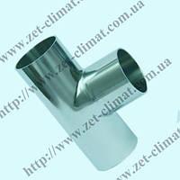 Тройник (Т-деталь) DN 80 AISI304 длинный приварной DIN 11850
