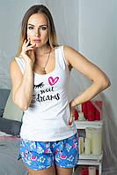 Пижама майка + шорты MiaNaGreen П003 Фламинго