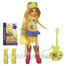 Кукла Эппл Джек с гитарой My Little Pony Equestria Girls