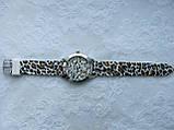 Часы женские Geneva - серебряный леопард, фото 2