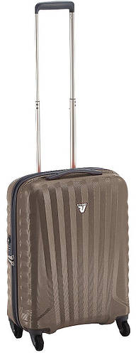 Функциональный прочный чемодан из пластика 35 л. Roncato UNO ZIP SPOT 5083/02/14 бежевый