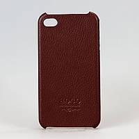 Чехол-накладка пластиковый для iPhone 4/4S Hoco Open Face Case коричневый