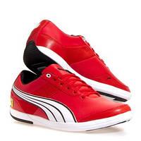 Пара брендовых кроссовок для активных мужчин PUMA Ferrari, р-р 43, стелька 28см, шнуровка, кожа, оригинал