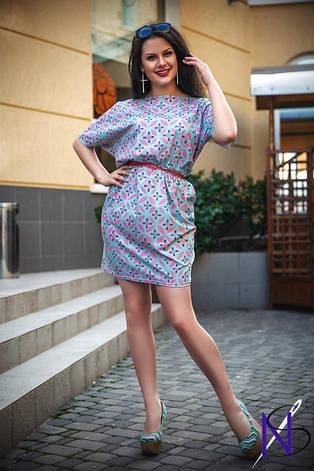 Платье с карманами пояс в комплекте , фото 2