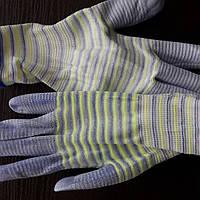 Перчатки рабочие  женские прорезиненные *Полоса*, фото 1