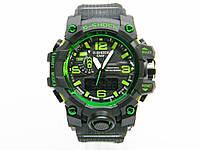 Часы CASIO G-SHOCK GWG-1000 MUDMASTER реплика Черный с зеленым