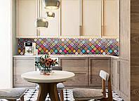 Кухонный фартук Уют (виниловая наклейка на стену плитка, орнамент, декор для кухни, заказать наклейку)