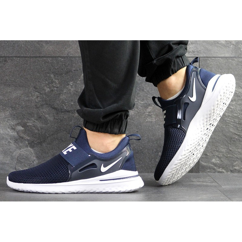 25852485 Мужские кроссовки Nike Renew Rival Freedom темно-синие с белым р.41 Акция -