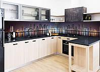 """Кухонный фартук Zatarga""""Отражение"""" 600 х 2500 мм фиолетовый"""