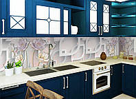Кухонный фартук Разнообразие (наклейка на кухню, интерьерные наклейки на стену, текстура бежевая)