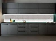 Кухонный фартук Текстура 03 (наклейки на стены, кирпич белый, текстура кирпича,  декор для кухни)