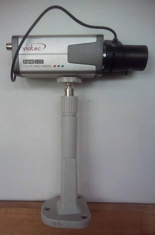 Цветная камера наблюдения высокого разрешения Viatec VC-520 с креплением и объективом в комплекте б/у, фото 2