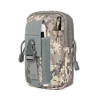 Тактический чехол Military сумка для телефона подсумок на пояс камуфляж ACU